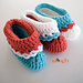 Loopy Love Toddler Booties pattern