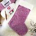 Velvet and Fur Christmas Stocking pattern