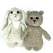 Simple  Bear and Bunny pattern