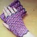 Chevron fingerless mitts pattern