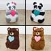 Sweetheart Panda & Teddy Bear Pudgy Pal pattern