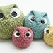 Chubby Owl Family pattern