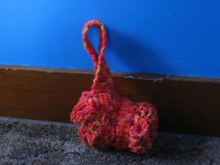 mesh backpack, bundled up