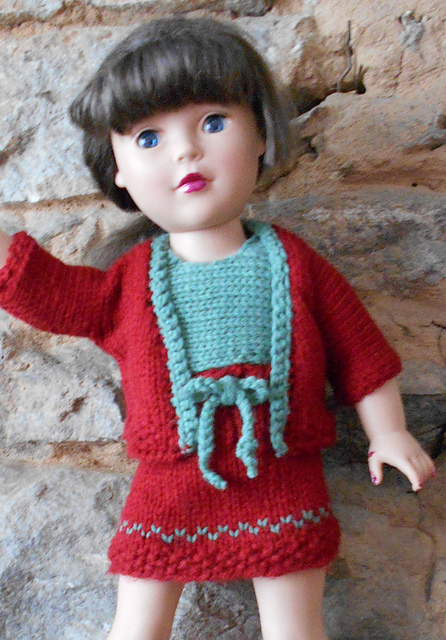 idea ivana: Easy Crochet Doll Outfit {universal size pattern} | 640x446