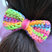 Bow hair bobble/elastic pattern
