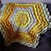 Lemon Meringue Hexagonal 3d Lace blanket pattern