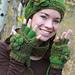 Floral Half-Finger Fingerless Gloves pattern