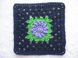 Purple Flower Square