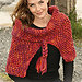 104-21 Knit wrap with cables pattern