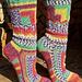 Patchwork Mix Socken pattern
