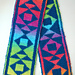 Travelling Triangles Double Knit Scarf Chart pattern
