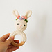 Spring bunny rattle pattern