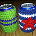 Captain America Soda Cozy pattern