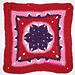 Falling Star Afghan Square pattern