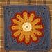 Daisy 12 Petal Square pattern