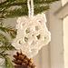 0-734 Christmas snow flake pattern