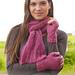 156-41 Ibis Rose Wristwarmers pattern