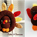 Thanksgiving Wreath & Placecard Holder/Stuffie Set pattern