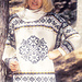 35-2 Sweater with star and border pattern pattern