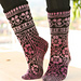 126-4 Ring of Roses Socks pattern