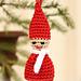 0-727 Santa ornament pattern