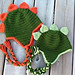 Dinosaur Hat Crochet Pattern - Newborn - Toddler - Child - Adult with optional heart pattern