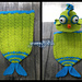 Fish Tails Backpack, purse and cocoon pattern