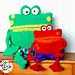 Pack & PJ froggy friends pattern