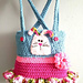 Frilly Overalls Tote pattern