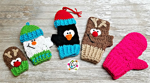 Mitts and mittens for the whole family!