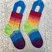 Melting Rainbow Socks pattern
