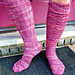 Red Dwarf Socks - The Knee High Version pattern