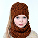 Ponytail hat and cowl pattern