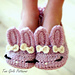 Children's Sizes 10-2 Bunny Hops The Classic and Year-Round Slipper pattern