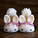 Hoppy Baby Bunny House Slippers pattern