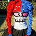 Harlequin Creepy Skull Hat pattern