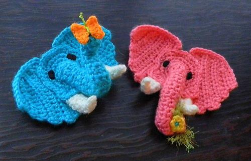 Baby Elephant Crochet Applique Pattern • Kerri's Crochet | 322x500