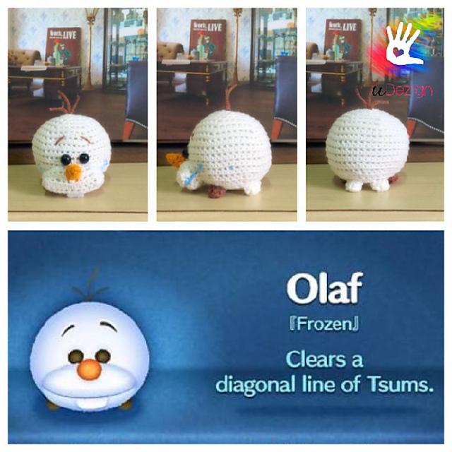 Olaf the snowman crochet pattern | Amiguroom Toys | 640x640