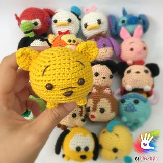 Crochet amigurumi disney tsumtsum plush inspirtation, seaotter, nemo, mike  wazowski, eeyore, winnie the pooh | Amigurumi | 320x320
