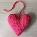 Nearly No-Sew Subtle Textured Heart pattern