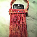 cellphone bag with beaded cuff pattern