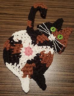 Ravelry: Peeking Cat Butt Coaster pattern by Upper Crust Crochet | 320x245