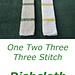 One Two ThreeThree  Dishcloth pattern