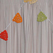 Rainbow bunting pattern