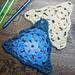 International Crochet Day triangle motif pattern