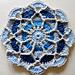 Blue Trellis Mandala pattern