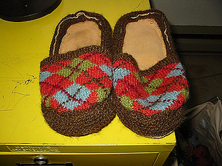 Argyle Slippers