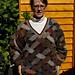 Lattice Pattern V-neck Sweater pattern