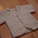 Top-Down Newborn Cardigan with Lattice Pattern pattern
