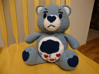 PDF pattern : Don't Care Bear amigurumi plush marijuana | Etsy | 240x320